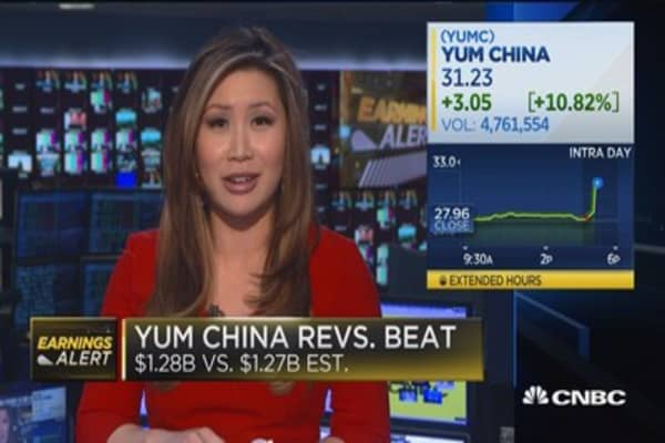 Yum China beats on top & bottom lines