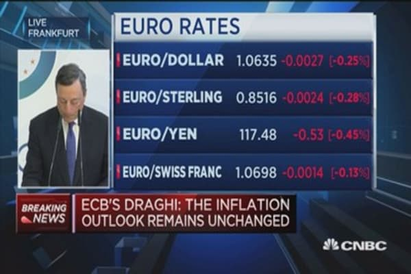 The inflation outlook remains unchanged: ECB's Draghi