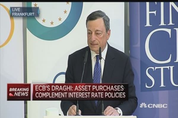 ECB's Draghi: Reassessment isn't warranted at this stage