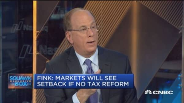 Larry Fink: Expect market setback if we don't see tax reform