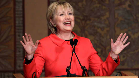 Hillary Clinton at an event last March.