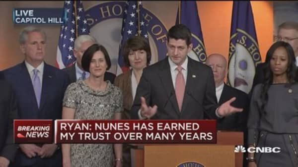 Ryan: Nunes has earned my trust over many years