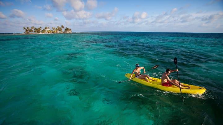 Kayaking in Belize.