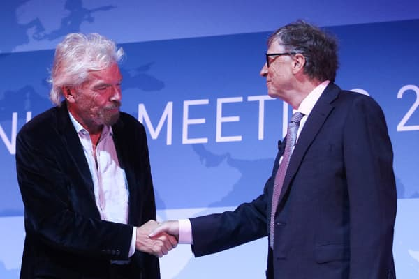 Richard Branson and Bill Gates