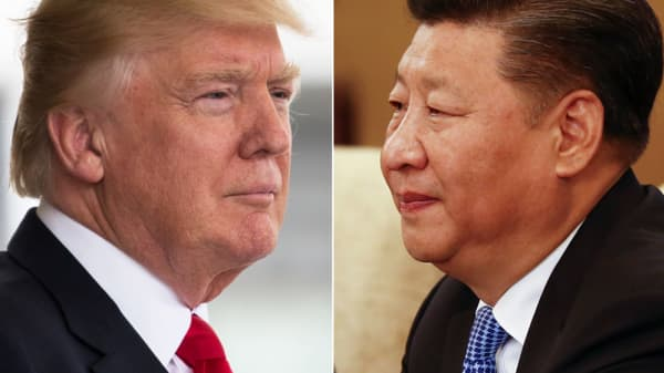 Presidents Donald Trump and Xi Jinping.
