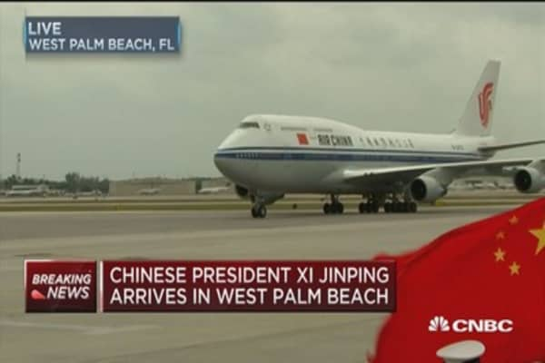Chinese President Xi Jinping arrives in West Palm Beach