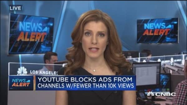 YouTube blocks ads from channels with fewer than 10K views