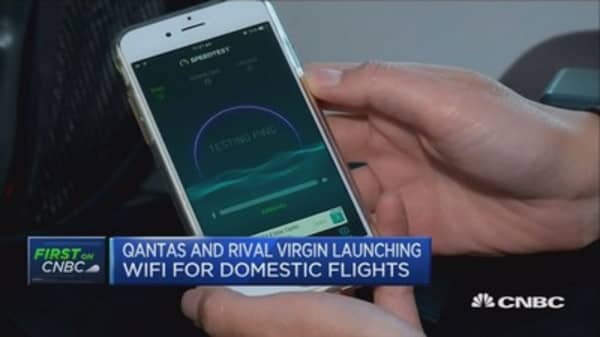 Qantas launches Wi-Fi on its domestic flight network