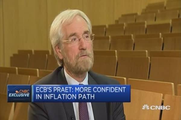 Haven't discussed QE exit plan: ECB's Praet