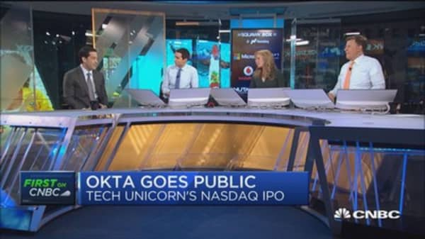 Tech unicorn Okta makes pubic debut on Nasdaq: CEO