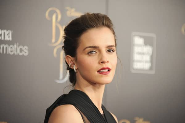 Actress Emma Watson attends the 'Beauty And The Beast' New York screening