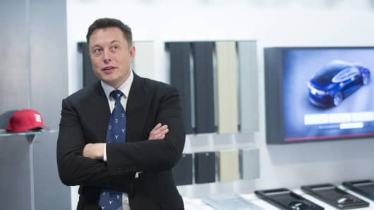 Elon Musk, billionaire, co-founder and chief executive officer of Tesla Motors Inc.