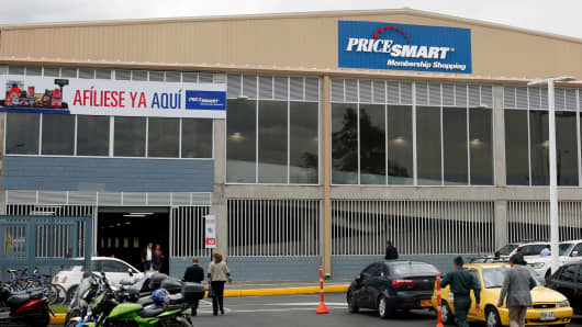 A PriceSmart store in Bogota, Colombia
