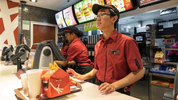 A McDonald's restaurant in Sydney, Australia.