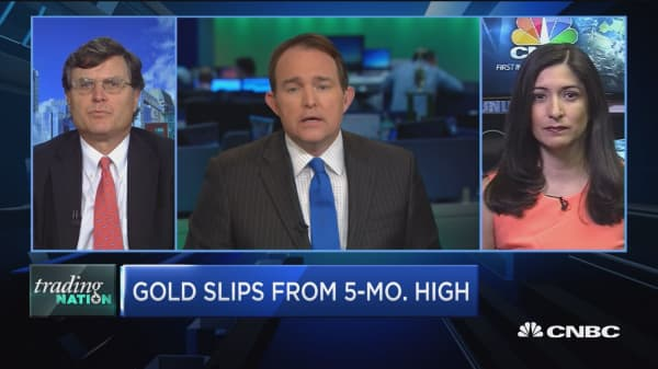 Trading Nation: Gold slips from 5-month high