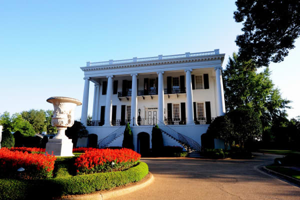 A view of the the President's Mansion on campus of the University of Alabama in Tuscaloosa, Alabama.