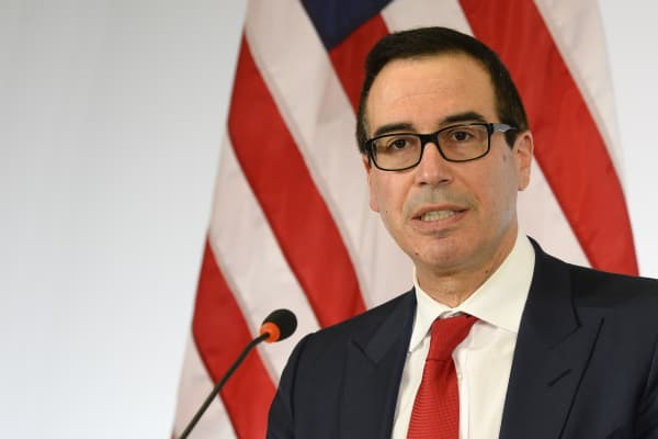 US Secretary of the Treasury Steven Mnuchin.