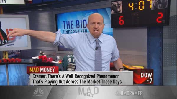 Cramer tracks 'the bid underneath' to explain why the market rallies on bad news
