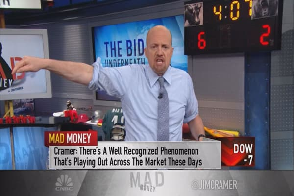 Cramer tracks 'the bid underneath' to explain why the market rallies on bad news