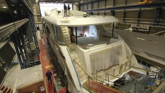 Production facility of Princess Yachts in Plymouth, U.K.