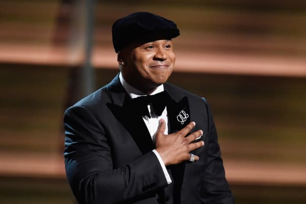 Host LL Cool J speaks onstage during The 58th GRAMMY Awards