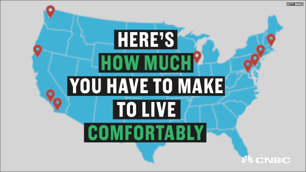 The salaries you need to live comfortably in America's biggest cities