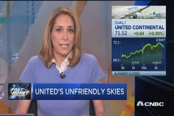 UAL still higher despite passenger incident