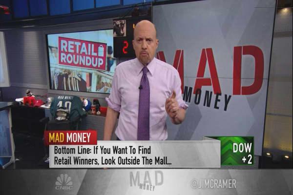 Cramer looks at 2 retail leaders