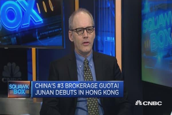 Guotai Junan debuts in Hong Kong as biggest IPO this year