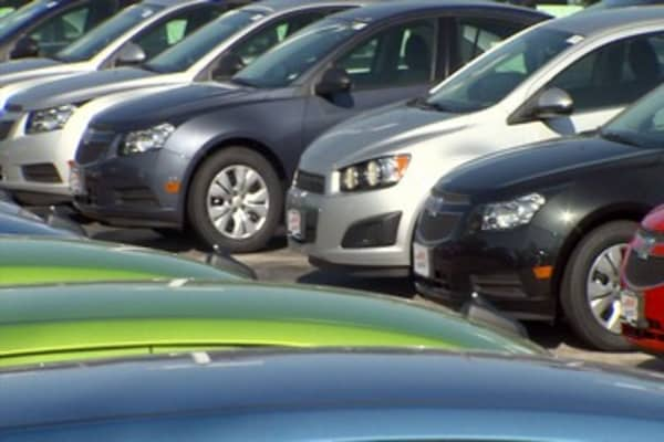 Lenders may have helped put the breaks on car sales last month