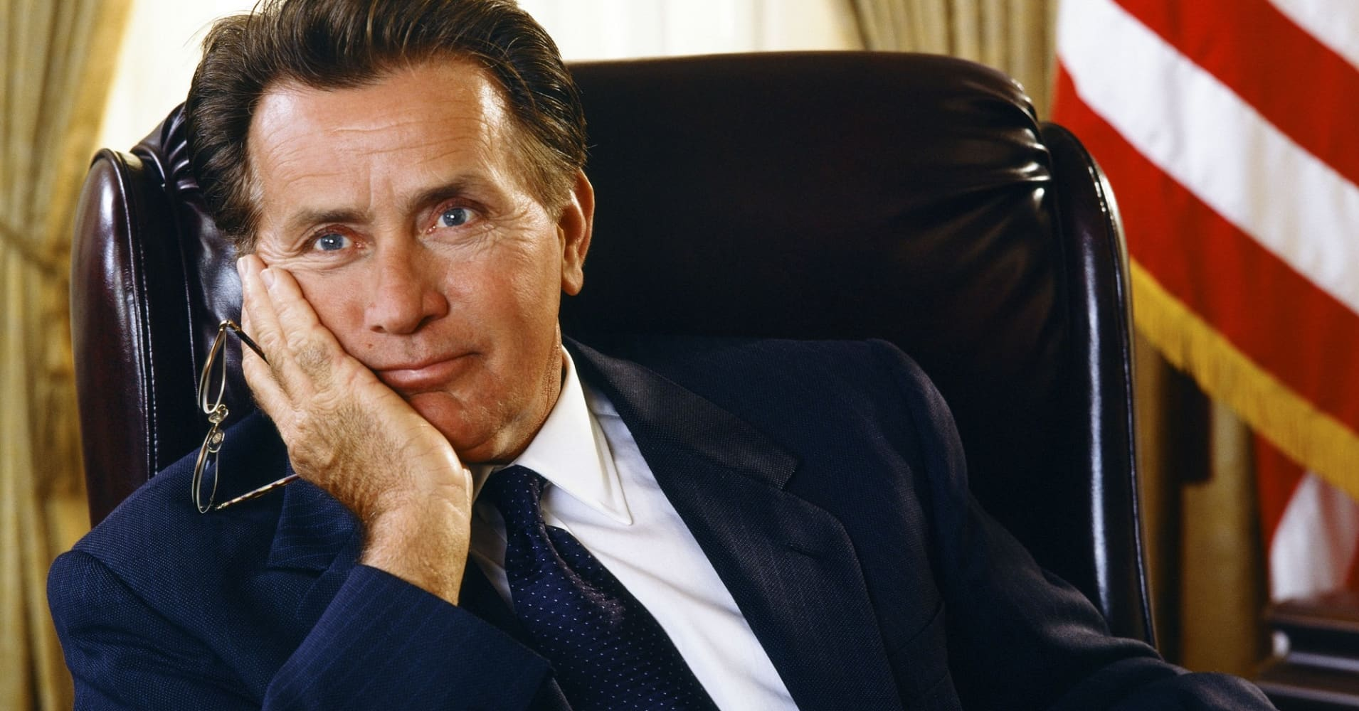 Martin Sheen as President Josiah 'Jed' Bartlet on 'The West Wing.'