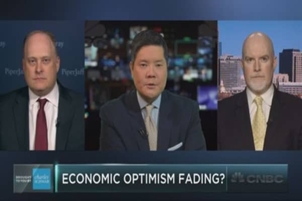 Is economic optimism fading?