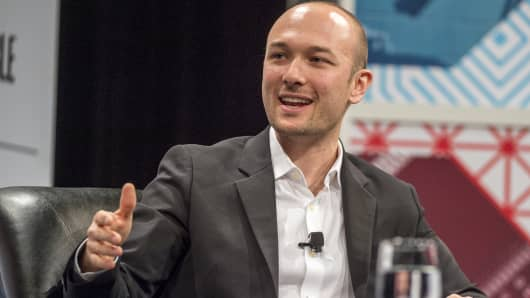 Logan Green, co-founder and chief executive officer of Lyft Inc.