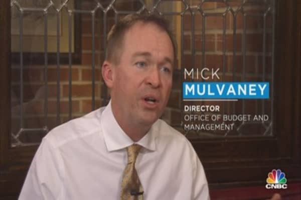 Without deputies, Mulvaney leans on 'deep state'