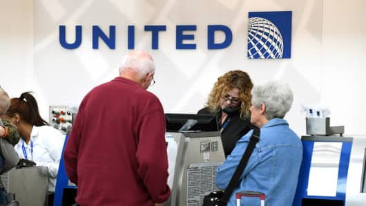 The United Airlines terminal on display at O'hare International Airport on Tuesday, April 11, 2017, in Chicago, IL.