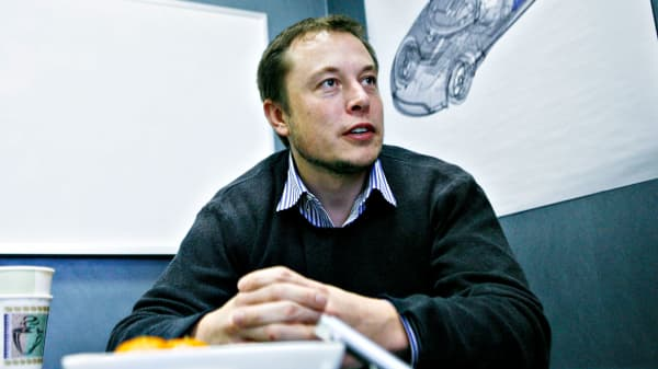 Elon Musk, pictured here in 2008, grew up surrounded by books.