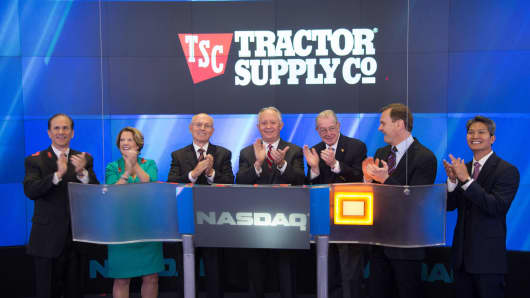 Tractor Supply Company rang the Opening Bell at the NASDAQ MarketSite in New York on Oct. 10, 2013.