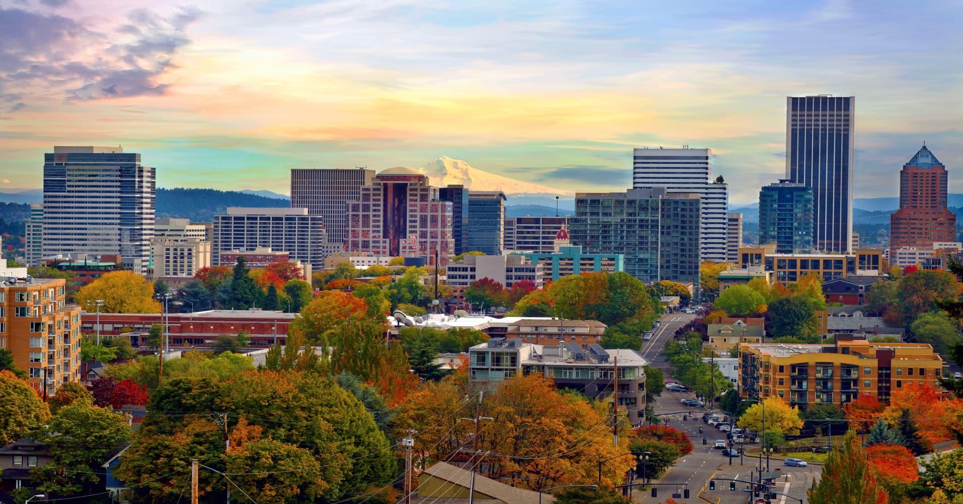 Downtown Portland, Oregon.
