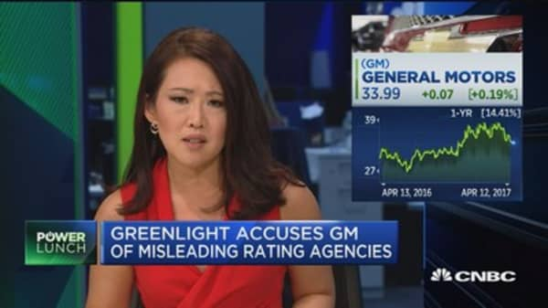 Greenlight accuses GM of misleading rating agencies