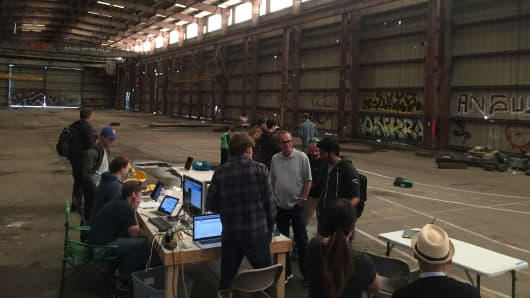DIY Robocars members meet up to build and race tiny autonomous cars in Oakland, California
