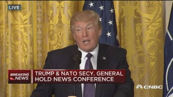 Trump: Must work together to resolve Syria situation