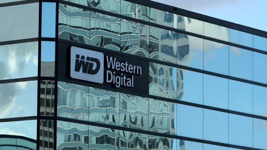 A Western Digital office building is shown in Irvine, California, U.S., January 24, 2017.