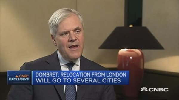 Relocation from London will go to several cities: Dombret