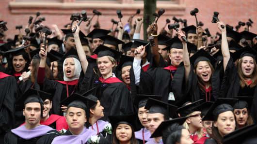 Graduating Harvard University Law School students