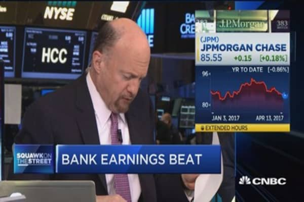 Bank earnings on tap: Cramer
