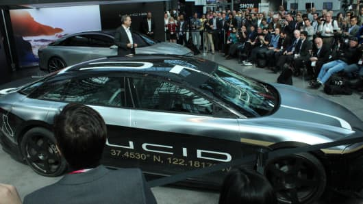 The Lucid Air Alpha Test Car Displayed At New York Auto Show Reached