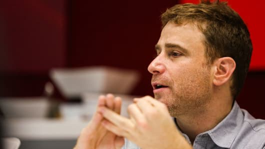 Stewart Butterfield, co-founder and chief executive officer of Slack Technologies