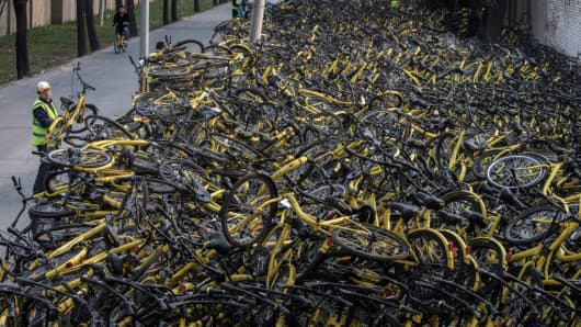 Ofo Chinese Bike Sharing Start Up Says It S Now Worth