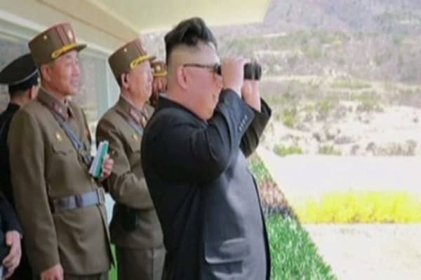 The US is weighing its options after a North Korean missile test failed over the weekend