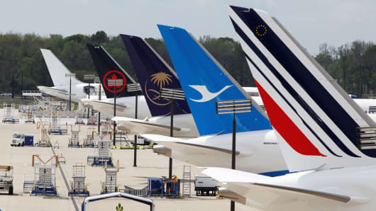 Planes are being prepared for customer approval in the delivery ramp at Boeing South Carolina in North Charleston, South Carolina.